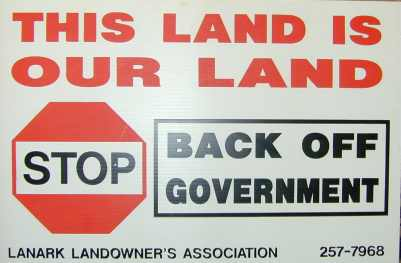 back off government sign