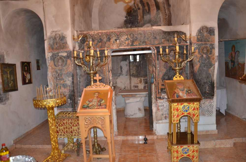 interior of st. nicholas church, exarchos, greece