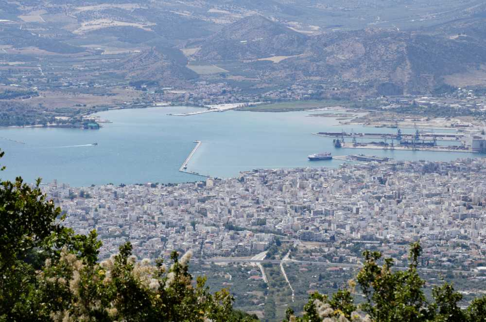 view of the city of volos