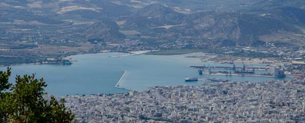 View of the city of Volos, Greece