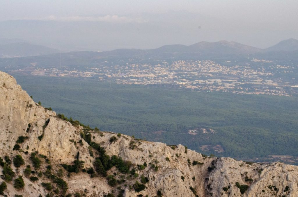 northern athens suburbs from mount parnitha
