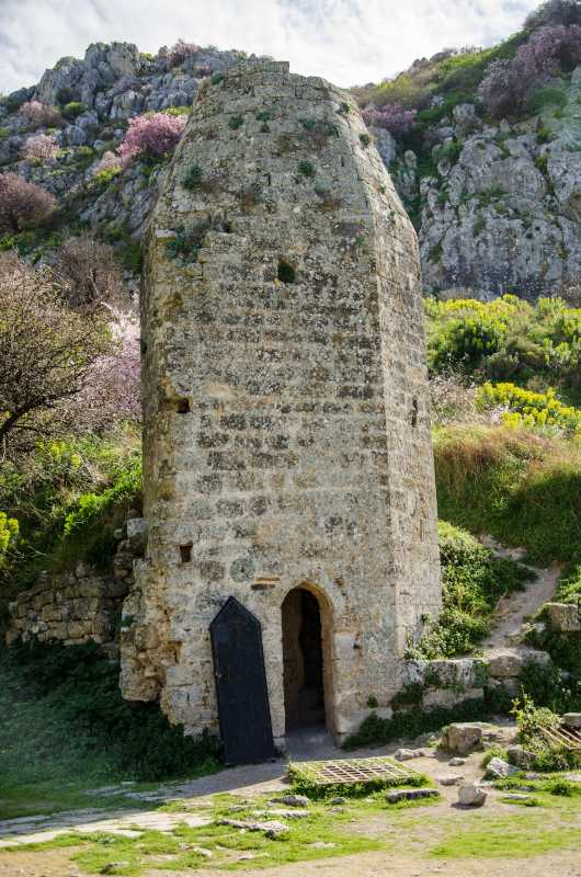 frankish tower within acrocorinth