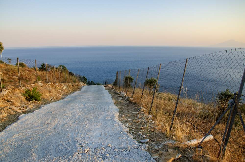 view from the path of the aegean sea