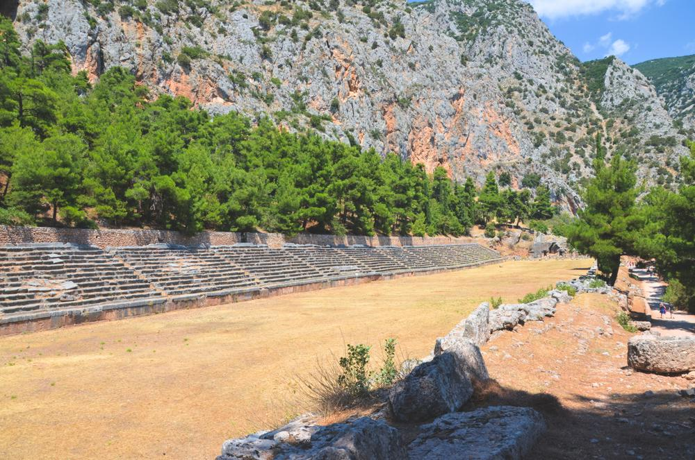 view of length of stadium at delphi