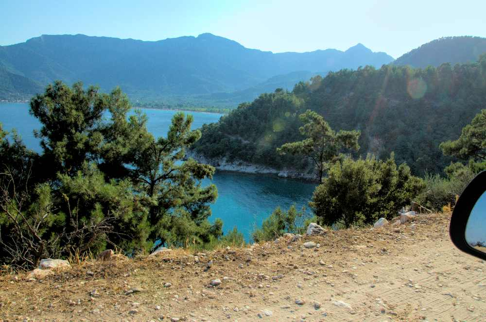thassos mountain and turqouise sea